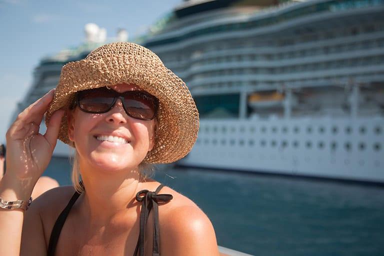 Solo traveler on a cruise