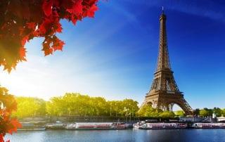Paris, France on the river Seine